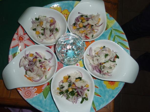 Simple Peruvian Ceviche. Photo by MaryLou in Caracas, Venezuela