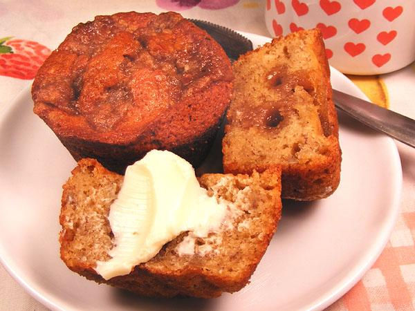 Old Fashioned Banana Muffins. Photo by Lavender Lynn