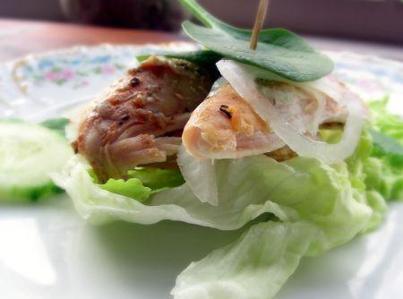 Curried Chicken Lettuce Wraps. Photo by Andi of Longmeadow Farm
