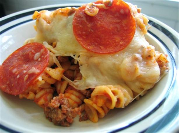 Easy Pizza Pasta Casserole (OAMC). Photo by Juju Bee