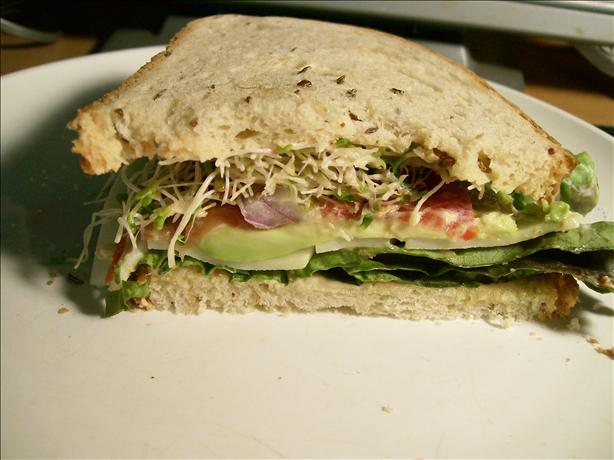 Tomato, Cheese, and Avocado Sandwich. Photo by Sharon123