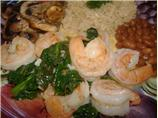 Sauteed Shrimp and Spinach
