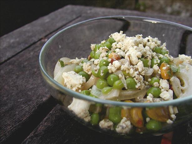 Pea, Feta and Mint Salad With Pistachios. Photo by Mrs Goodall