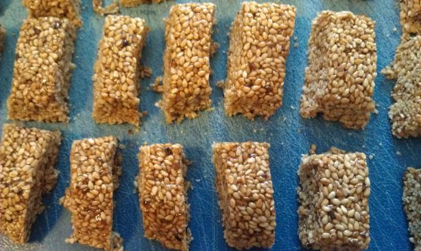 Crunchy Sesame Seed Candy. Photo by mcoqueen