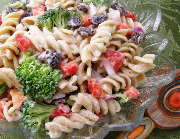 Broccoli, Raisin, Pasta Salad. Photo by DuChick