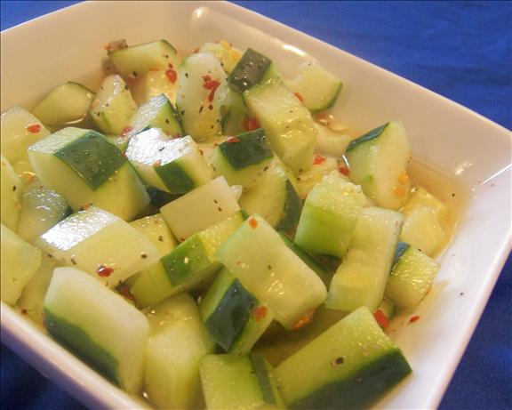 Spicy Vinegared Cucumbers. Photo by *Parsley*