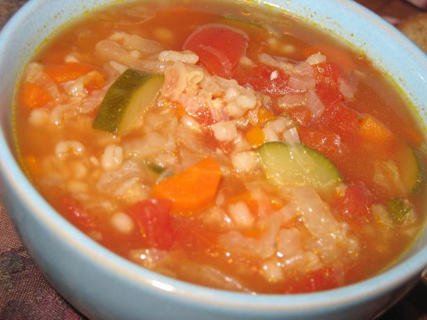 Vegetable Barley Soup. Photo by Lori Mama