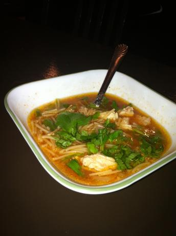 Sopa De Fideo Con Pollo ( Mexican Chicken Noodle Soup). Photo by alondrac26