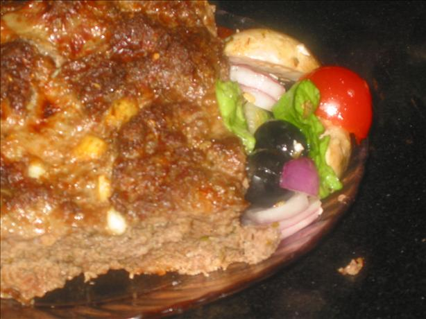 Greek Meatloaf With Feta. Photo by Chef Dee