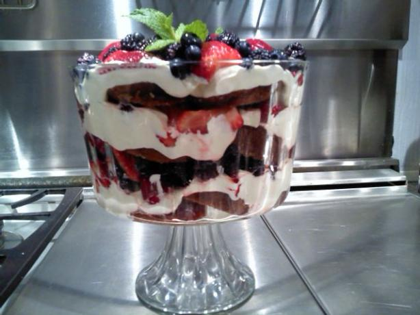 Lemon Curd and Berry  Trifle. Photo by sage7x7