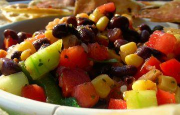 Quick and Easy Salsa With Black Beans and Corn. Photo by Andi of Longmeadow Farm