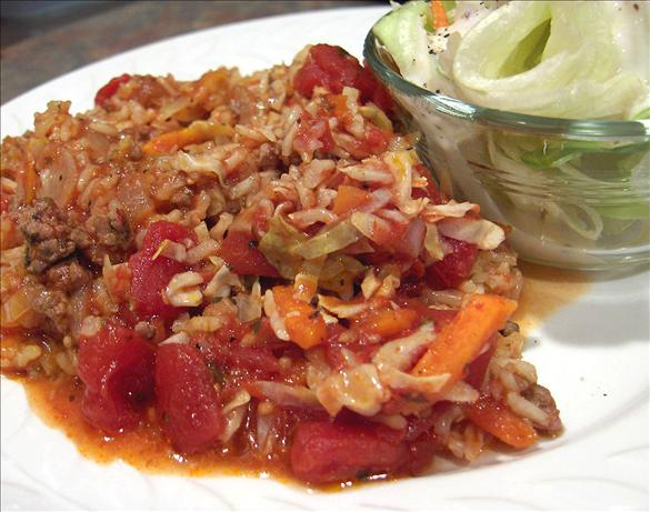 Crock Pot Hamburger Cabbage Casserole-Revised. Photo by Derf
