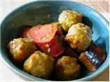 Sweet and Sour Mustard Sausages and Meatballs