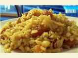 Rice Pilaf With Pine Nuts and Golden Raisins