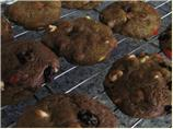Chocolate Chocolate Chocolate Cashew Cookies (with Raisins)