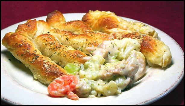 Breadstick Topped Chicken Pie. Photo by kzbhansen