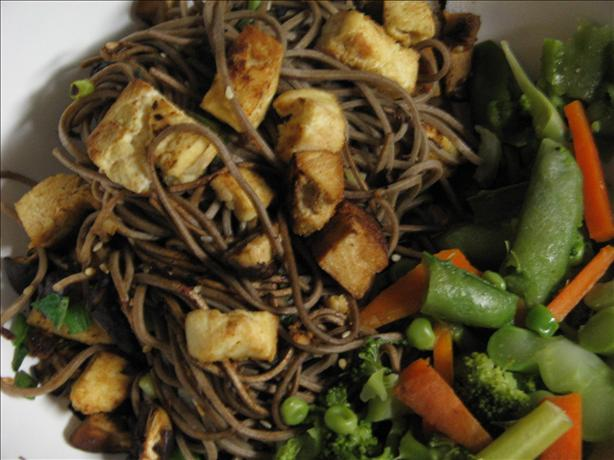 Quick Soba Stir Fry With Tofu. Photo by Vino Girl