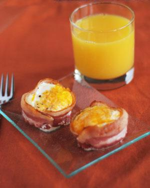 Bacon and Egg Cups. Photo by Dine & Dish