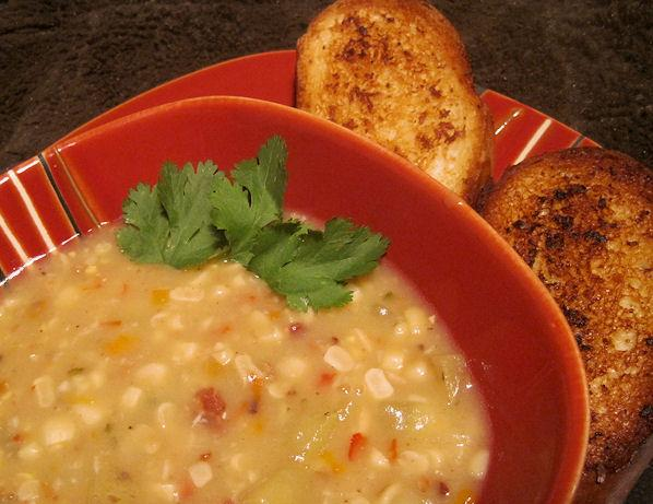Smoked Corn and Pepper Chowder. Photo by Sandi (From CA)