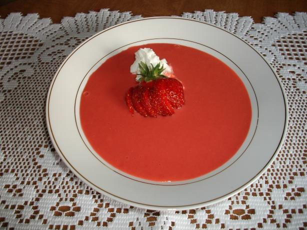 Strawberry Yogurt Soup. Photo by Domestic Goddess