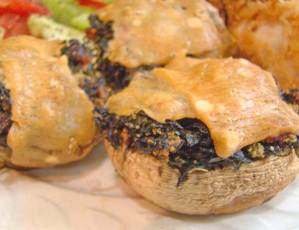 Olive Oyl's Treat for Popeye (Spinach stuffed Mushrooms). Photo by Derf