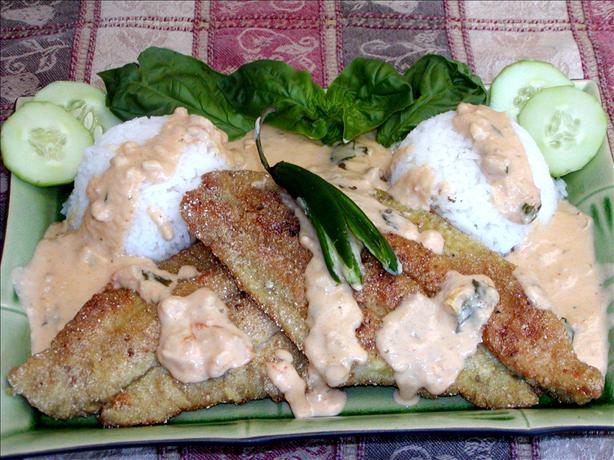 Fried Catfish With a Creamy Thai Sauce. Photo by Rita~