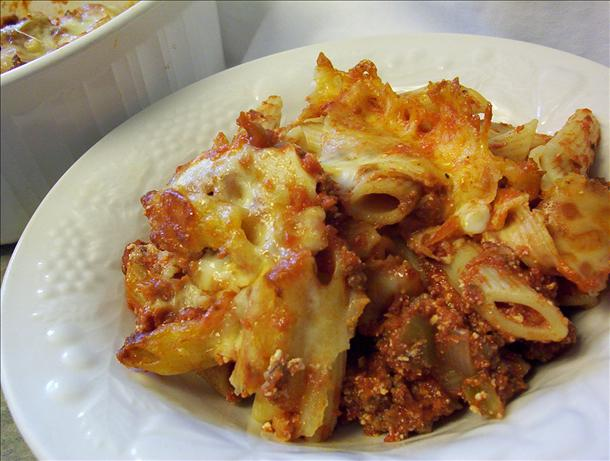 Simple Baked Mostaccioli. Photo by * Pamela *