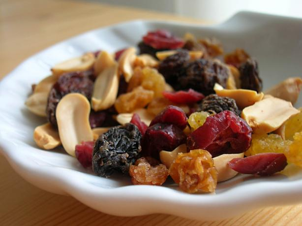 Fruit and Peanut Snack Mix. Photo by Lalaloula
