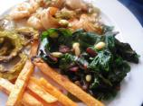 Swiss Chard or Spinach With Pine Nuts and Raisins (ww)