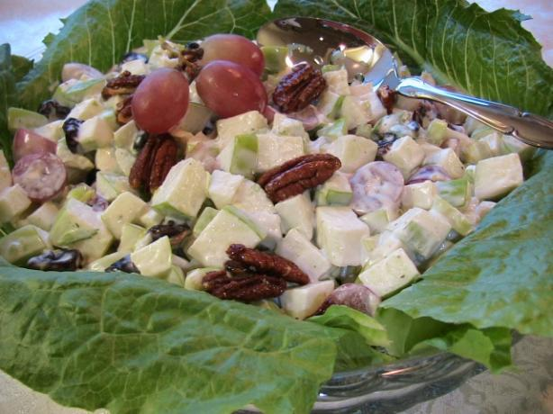 Waldorf Salad With Tart Cherries, Grapes, and Candied Pecans. Photo by BecR