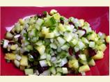 Cucumber Pineapple Salsa With Dried Cranberries