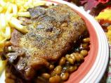 Easy Oven Baked Beans and Pork Chops