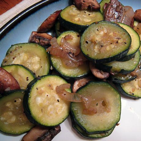 Sauteed Zucchini With Mushrooms for Two. Photo by yogiclarebear