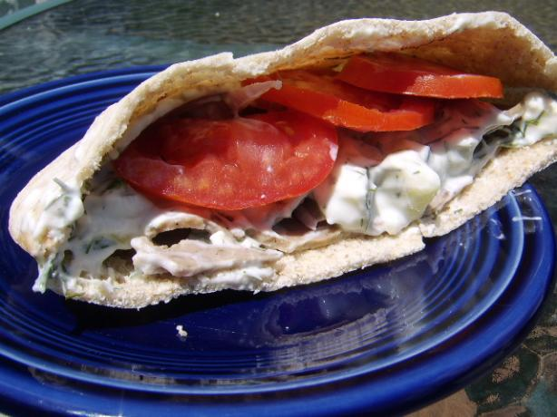 Pita Stuffed Souvlaki. Photo by LifeIsGood
