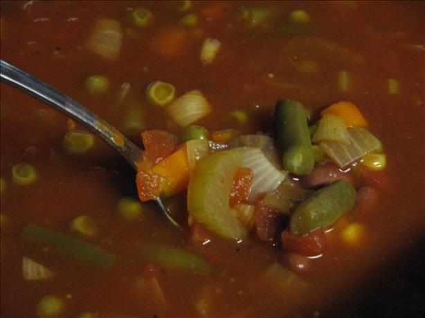Chili Minestrone Soup (Crock Pot). Photo by Vino Girl