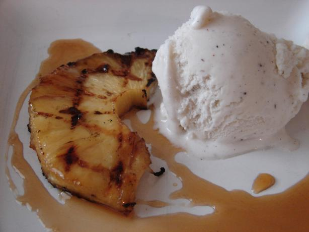 Grilled Pineapple With Rum Reduction Sauce. Photo by Margieline