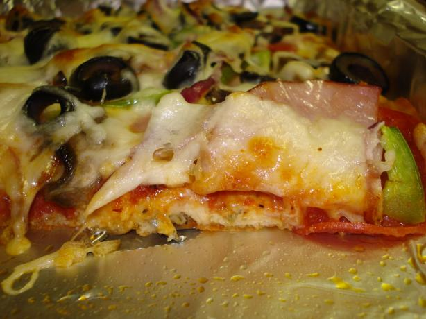 Low Carb Deep Dish Pizza. Photo by Tiny_Toodles