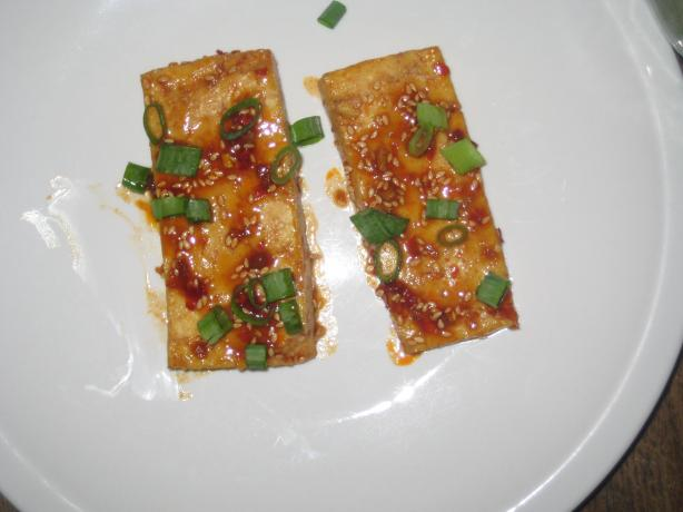 Korean-style Broiled Tofu. Photo by Nose