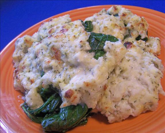Broiled Spinach With Four Cheeses. Photo by *Parsley*