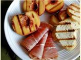 Grilled Peaches With Prosciutto
