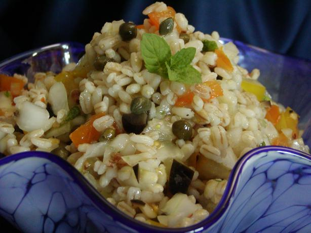Lemon Mint Barley Salad. Photo by Rita~