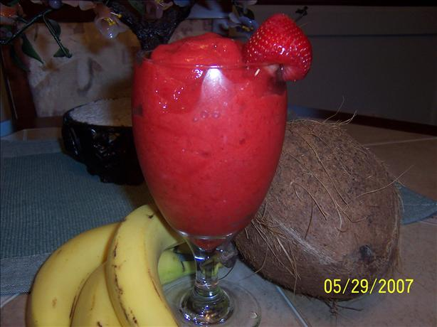 Strawberry Tea Slush. Photo by Mommy Diva