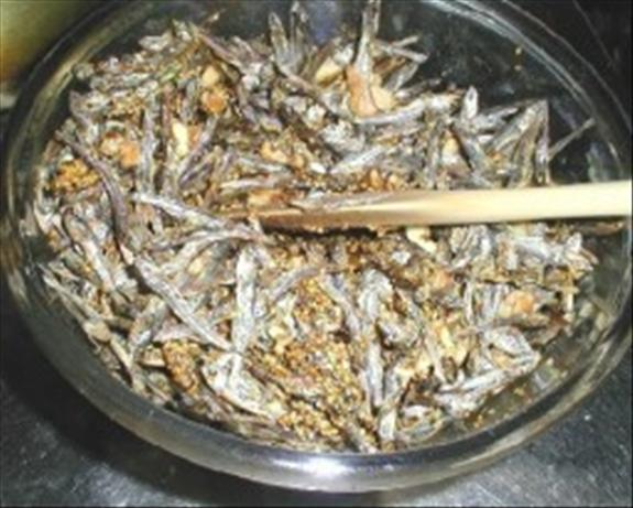 Tazukuri (dried Sardine). Photo by BirdyBaker