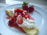 Strawberry and Cream Cheese Crepes. Recipe by Sharon123