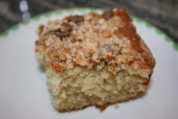Sour Cream Banana Cake With Toffee Bar Topping. Photo by ihvhope