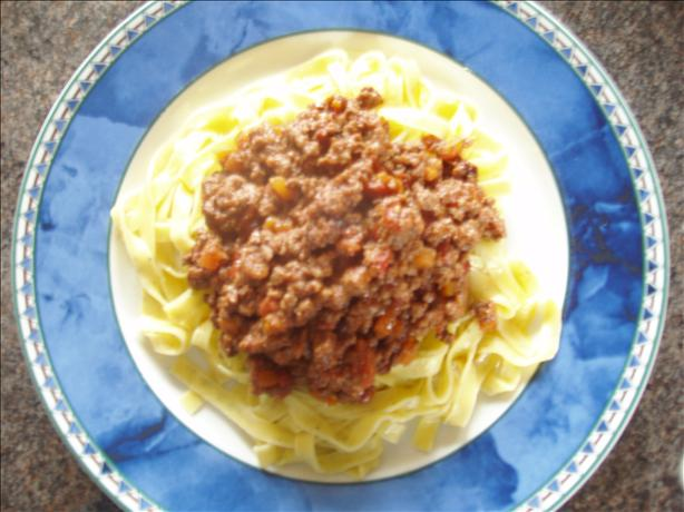 Classic Bolognese Meat Sauce (bolognaise). Photo by Little Sand Fairy