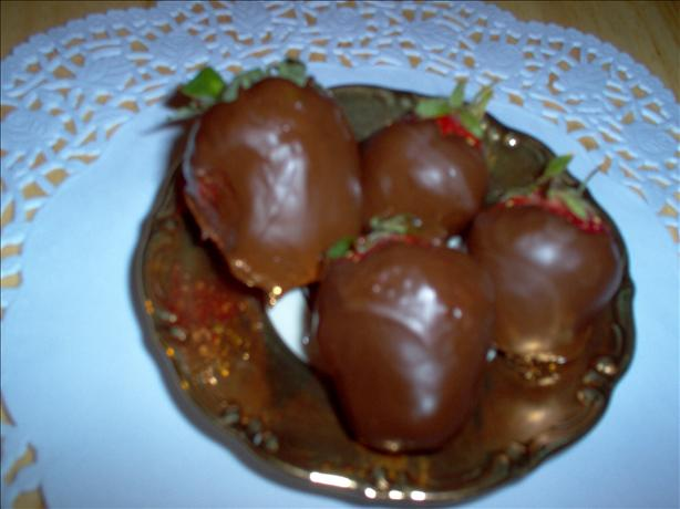 Injected Chocolate Covered Strawberries With Grand Marnier. Photo by Marlitt