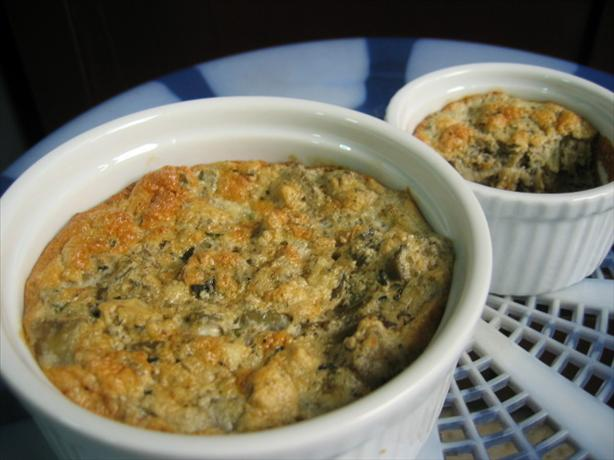 Herbed Eggplant (Aubergine) Souffle. Photo by fawn512
