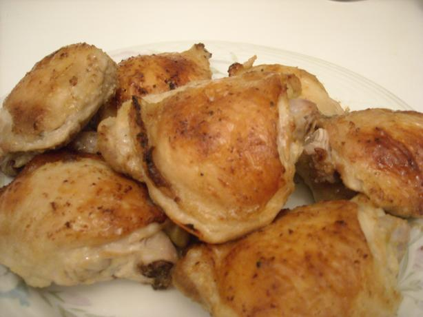 Garlic & Lemon Roast Chicken Thighs. Photo by mums the word