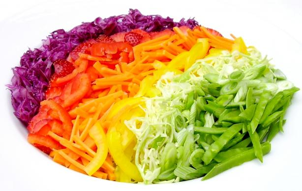 Almost Rainbow Salad. Photo by Inge 1505